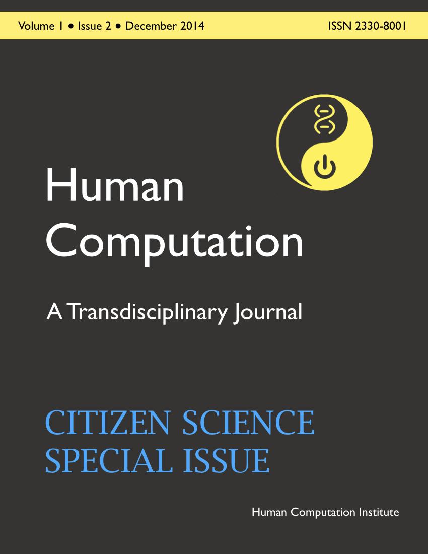 Human Computation, Volume 1, Issue 2, December 2014