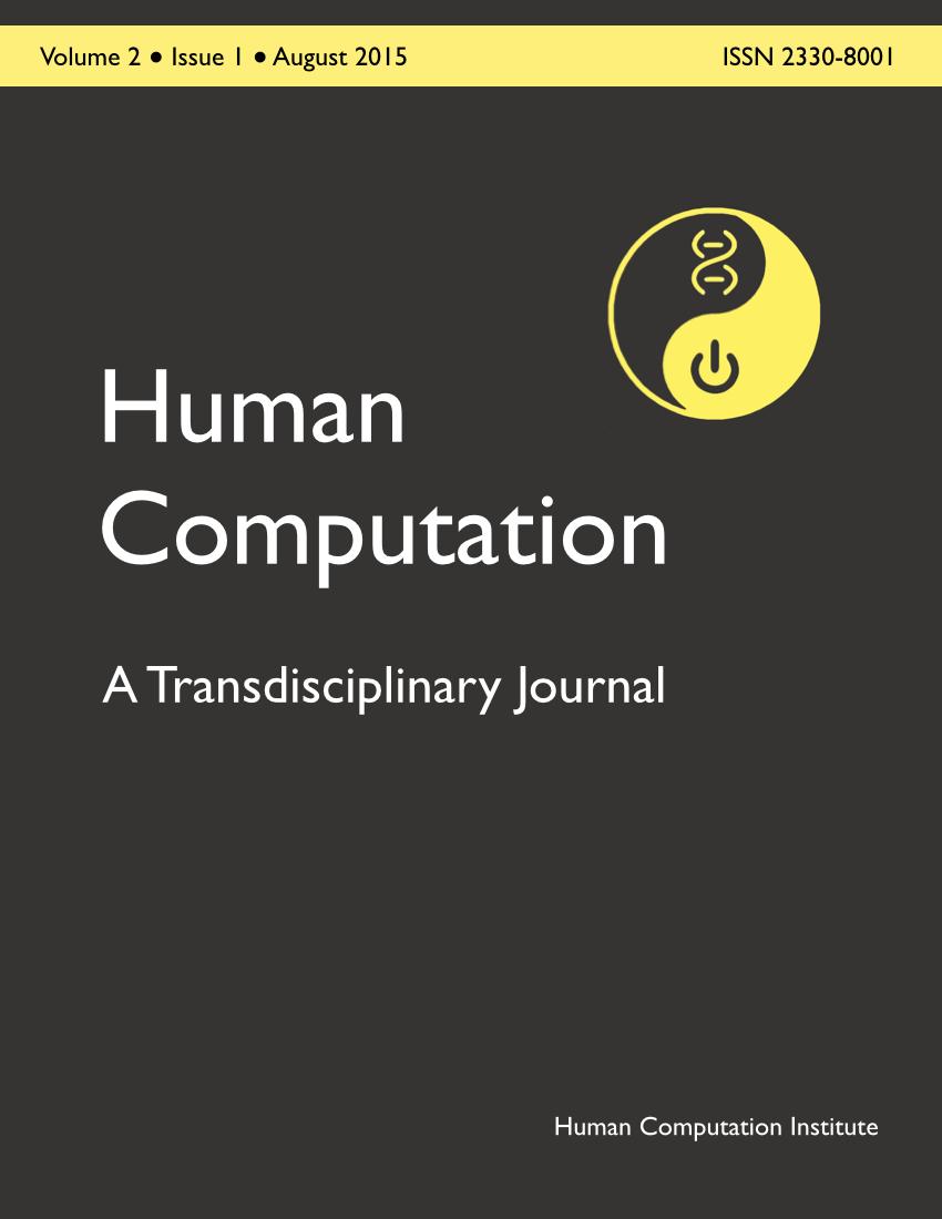 Human Computation, Volume 2, Issue 1, August 2015