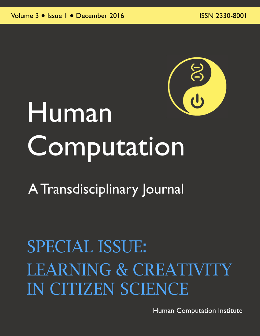 Human Computation, Volume 3, Issue 1, December 2016